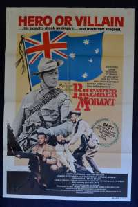 Breaker Morant Poster Original One Sheet 1980 Jack Thompson Cannes Artwork