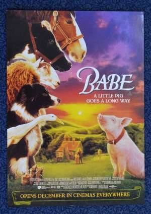 Babe 1995 movie poster Flyer Pig George Miller James Cromwell