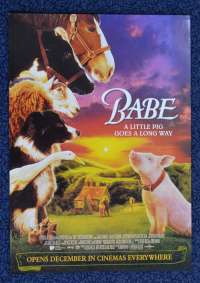 Babe Movie Poster Flyer Original 1995 Pig George Miller James Cromwell