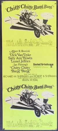 Chitty Chitty Bang Bang Daybill Poster New Zealand Original 1969 Dick Van Dyke
