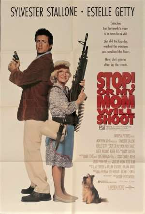 Stop Or My Mom Will Shoot Poster Original One Sheet 1992 Sylvester Stallone