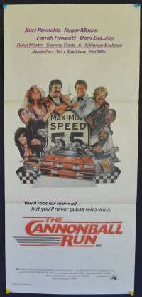 The Cannonball Run Daybill movie poster Roger Moore Burt Reynolds
