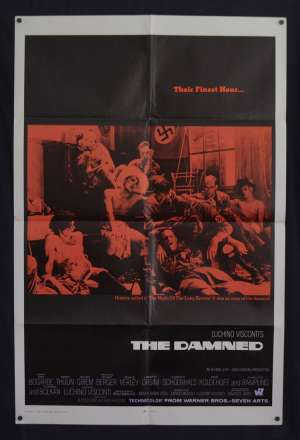 The Damned Poster Original USA RARE One Sheet Nazi Art 1969 Dirk Bogarde