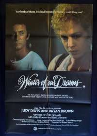Winter Of Our Dreams 1981 One Sheet movie poster Bryan Brown Judy Davis