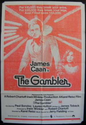 Gambler, The One Sheet Australian Movie poster