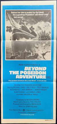 Beyond The Poseidon Adventure Daybill movie poster Michael Caine Irwin Allen