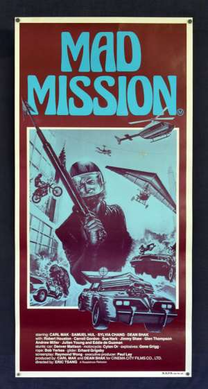 Mad Mission Poster Original Daybill 1982 ROLLED Aces Go Places Martial Arts