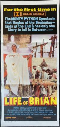 The Life Of Brian movie poster Daybill RARE Cast artwork