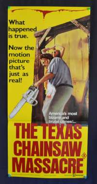 The Texas Chainsaw Massacre 1974 Daybill Movie poster