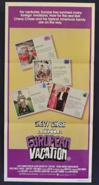 National Lampoon's European Vacation 1985 Chevy Chase Daybill movie poster