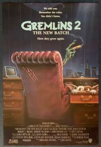 Gremlins 2 The New Batch Poster Original USA One Sheet Rolled 1990 Phoebe Cates