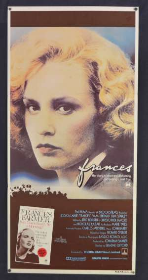Frances Movie Poster Original Daybill 1982 Jessica Lange Frances Farmer
