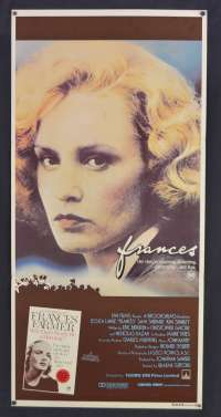 Frances 1982 movie poster Jessica Lange Sam Shepard Australian Daybill