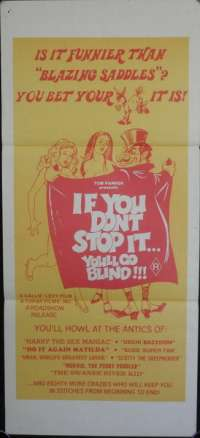 If You Don't Stop It, You'll Go Blind 1974 Daybill Movie poster Sex Comedy