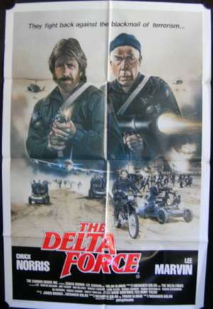 The Delta Force Poster Original One Sheet 1986 Chuck Norris Lee Marvin