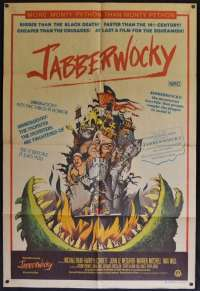 Jabberwocky Poster One Sheet Original 1977 Monty Python Michael Palin Terry Jones