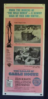 The Ballad Of Cable Hogue Poster Original Daybill RARE 1970  Jason Robards