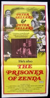 The Prisoner Of Zenda 1979 Peter Sellers Daybill movie poster