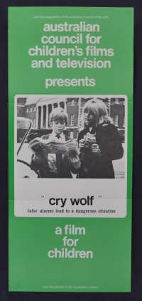 Cry Wolf 1968 Wilfrid Brambell Children's Films and Television Daybill movie poster