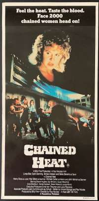 Chained Heat 1983 Daybill movie poster exploitation Linda Blair Prison