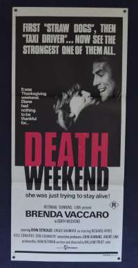 Death Weekend 1976 Aka House By The Lake Daybill movie poster