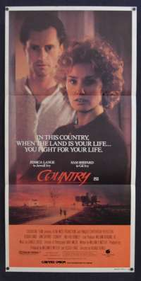 Country 1984 Daybill movie poster Jessica Lange Sam Sheppard