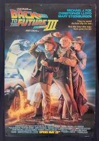 Back To The Future 3 Poster Original ROLLED USA Advance 1990 Michael J Fox