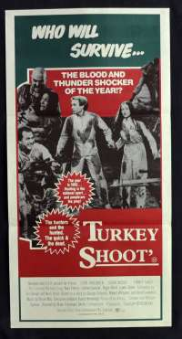 Turkey Shoot 1982 Daybill movie poster Escape 2000 Ozploitation Olivia Hussey