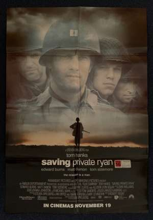 Saving Private Ryan Poster Original One Sheet 1998 Tom Hanks Matt Damon
