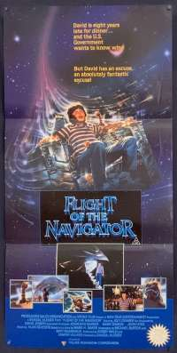 Flight Of The Navigator Movie Poster Original Daybill 1986 Joey Cramer