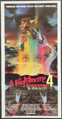 A Nightmare On Elm Street 4 movie poster Daybill Horror Robert Englund