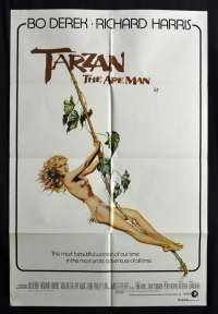 Tarzan The Ape Man 1981 One Sheet movie poster SEXY Bo Derek Richard Harris John Phillip Law