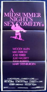 A Midsummer Nights Sex Comedy Woody Allen Mia Farrow Daybill movie poster