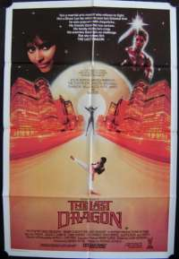 The Last Dragon 1985 One Sheet movie poster Berry Gordy Taimak