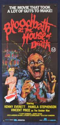 Bloodbath At The House Of Death Daybill movie poster Vincent Price