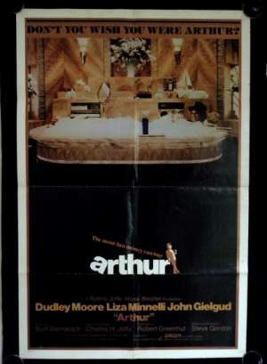 Arthur Movie Poster Original USA One Sheet 1981 Dudley Moore Liza Minnelli