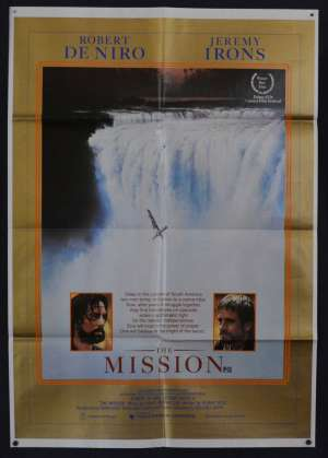 The Mission Poster Original One Sheet 1986 Robert De Niro Jeremy Irons