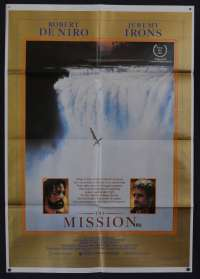 The Mission 1986 One Sheet movie poster Robert De Niro