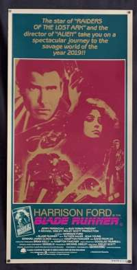 Blade Runner Harrison Ford Ridley Scott Australian Daybill movie poster