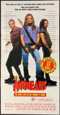 Airheads 1994 Daybill movie poster Brendan Fraser Adam Sandler Rock N Roll