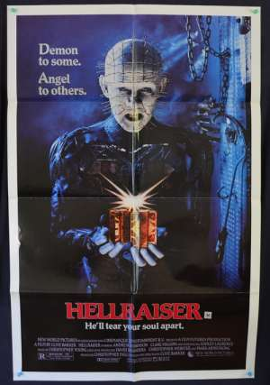Hellraiser 1987 One Sheet movie poster Andrew Robinson Clive Barker