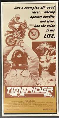 Timerider 1982 Rare Daybill movie poster Dirt Bike Racing Fred Ward