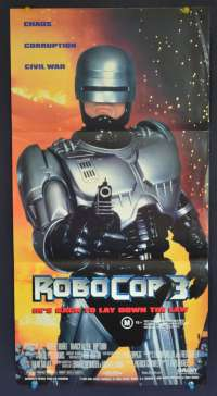RoboCop 3 1993 movie poster Daybill Nancy Allen