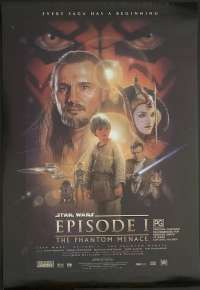 Star Wars Episode 1 The Phantom Menace 1999 One Sheet movie poster D/S Rolled Drew Struzan Art