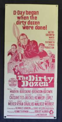 The Dirty Dozen Poster Original Daybill Lee Marvin Ernest Borgnine 70's Re-Issue