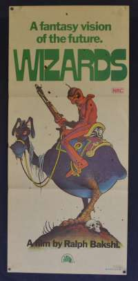 Wizards Movie Poster Original Daybill 1977 Ralph Bakshi Animation