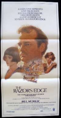 The Razor's Edge 1984 Bill Murray Tom Jung Artwork Daybill movie poster