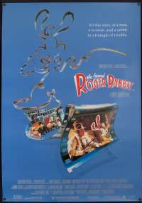Who Framed Roger Rabbit Poster Original One Sheet Rolled 1988 Bob Hoskins