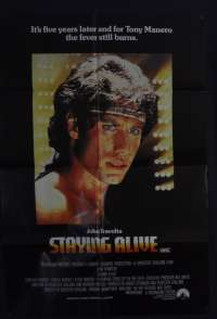 Staying Alive Poster Original One Sheet 1983 John Travolta No Border