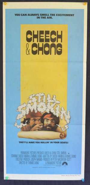 Cheech And Chong's Still Smokin Poster Original Daybill Cheech Marin Tommy Chong